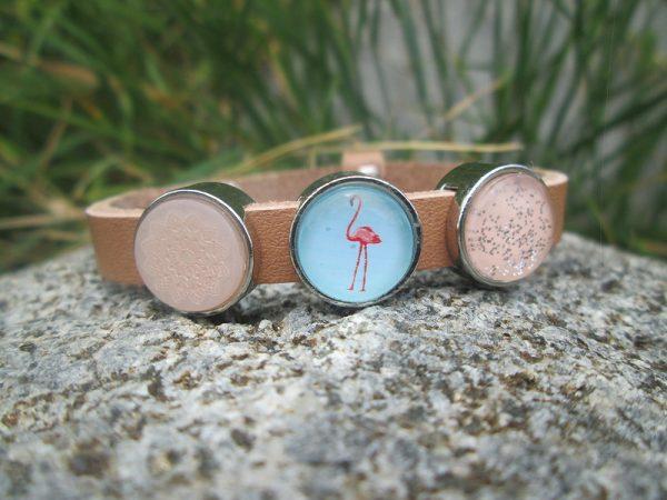 Dames armband Flamingo blauw