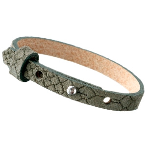 Dames armband Reptile Dark olive green