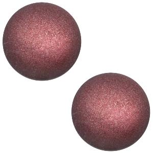 Schuiver 12mm mat Aubergine red