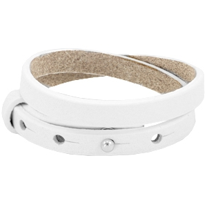 Dames armband dubbel Bright white