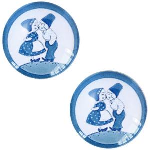 Schuiver 12mm Delfts blauw kussend paartje