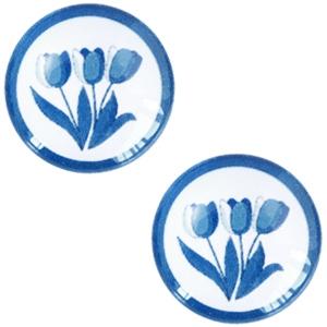 Schuiver 12mm Delfts blauwe tulpen