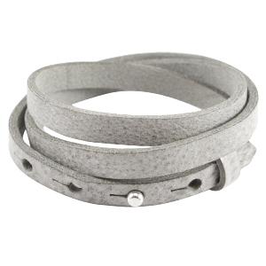 Dames armband triple Graphite grijs