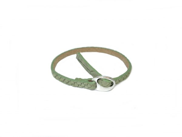 Meiden armband Reptile Light army green