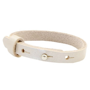 Dames armband Metallic white