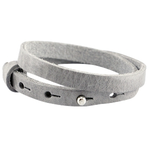Dames armband dubbel Natural grey
