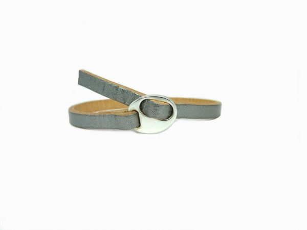 Meiden armband antiek zilver Beige