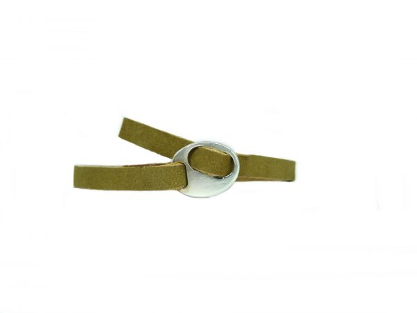 Meiden armband nubuck Light olive green