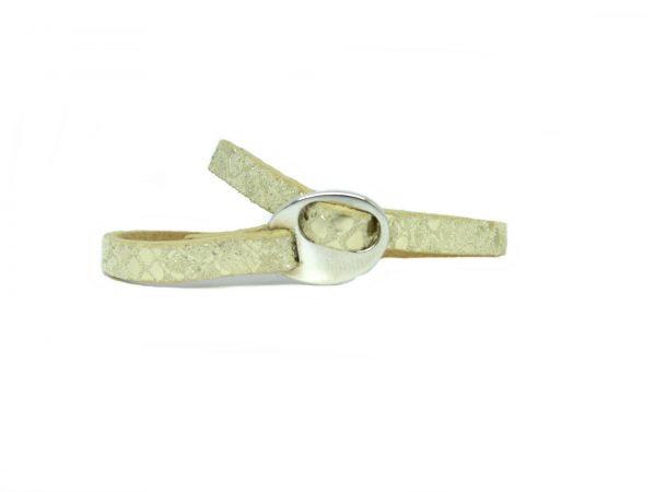 Meiden armband Snake Metallic greige