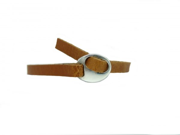 Meiden armband Dark cognac brown