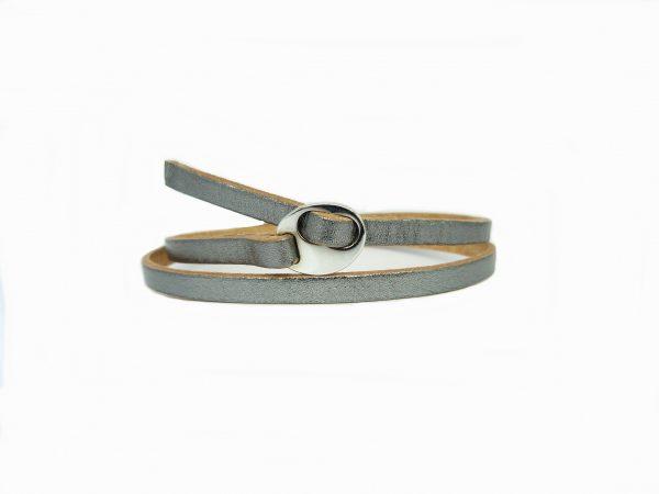 Meiden armband dubbel antiek zilver Beige