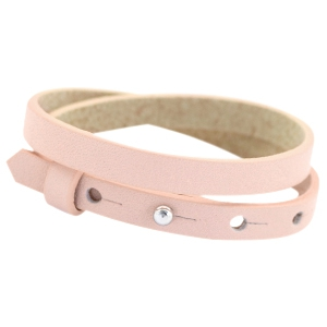 dames armband dubbel Powder rose