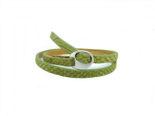 Meiden armband dubbel Reptile Light army green