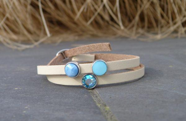 """Libelle meiden armband: """" sweet blue dubbel """""""