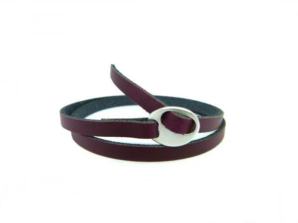 Meiden armband dubbel Aubergine Red