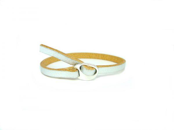meiden armband Zilver beige