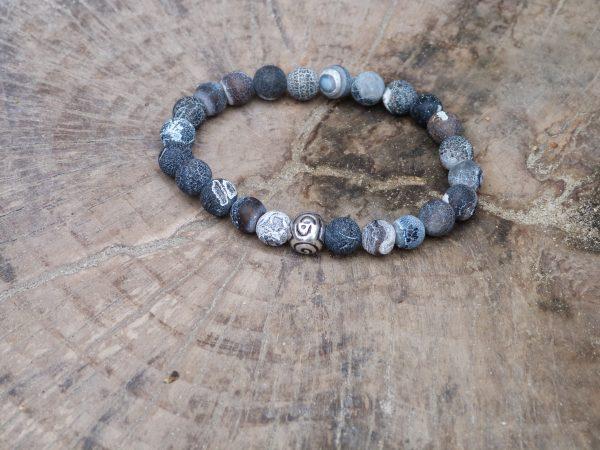 Gray Stone kralenarmband